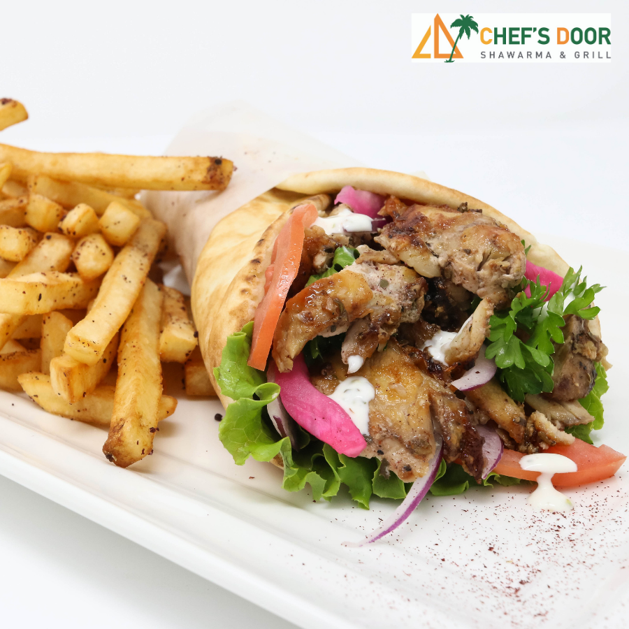 chef's door shawarma and fries image