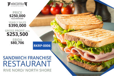 (RKRP-0006) Sandwich Franchise Restaurant- Rive Nord/ North Shore