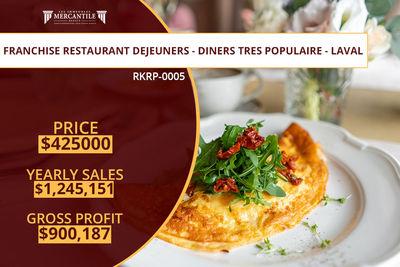 (RKRP-0005) Franchise Restaurant Dejeuners – Diners Tres Populaire – Laval