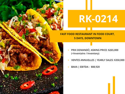 (RK-0214)Fast food restaurant in food court, 5 days, Downtown