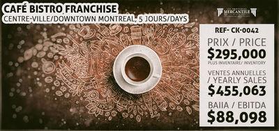 (CK-0042) Café Bistro Franchise – Centre-ville/Downtown Montreal, 5 jours/days