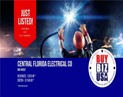 Electrical Contractor Business for Sale in Davenport FL