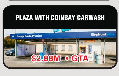 PLAZA WITH COINBAY CARWASH FOR SALE IN GTA