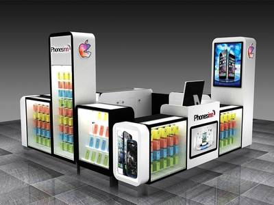CELL PHONE KIOSK & CART FOR SALE