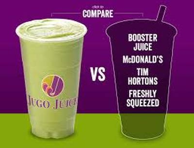 JUGO JUICE IS AVAILABLE FOR SALE IN OSHAWA