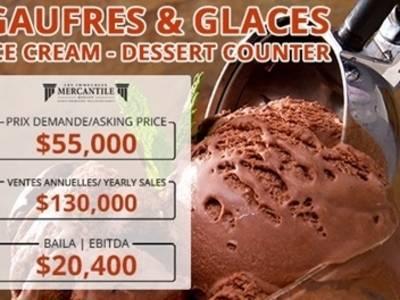 (CK-0043)A137774 - Gaufres & Glaces - Ice Cream - Dessert counter
