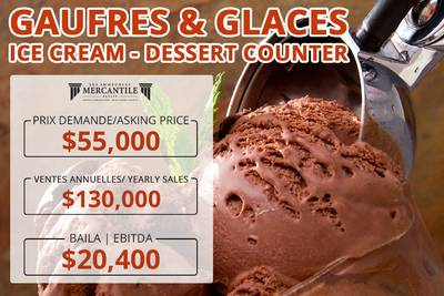 (CK-0043)Gaufres & Glaces - Ice Cream - Dessert counter
