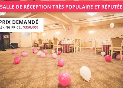(RKRP-0007 )Very popular, reputable reception hall in Montreal