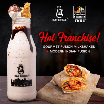 Holy Shakes  & T.O.'s Kathi Roll Eatery Franchise Opportunities