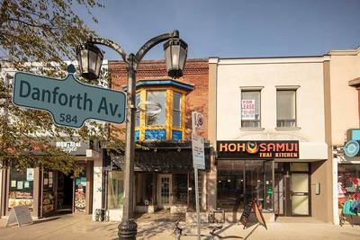 Prime Danforth Village Greektown Retail Building with Residential Apartment Above