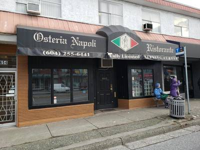 Beautiful Established Italian Restaurant for Sale or Lease in Vancouver,BC