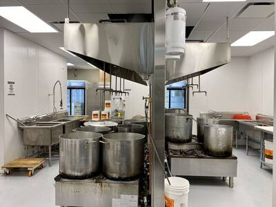 Newly Renovated Spacious Commercial Kitchen for Sale in Vancouver, BC