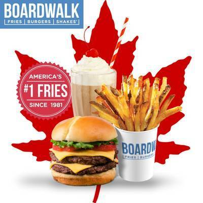 NEW Boardwalk Fries Burgers and Shakes in New Westminster, BC