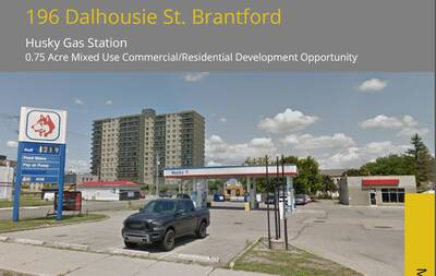 Husky Gas Station .75 Acres Mixed use Commercial/Residential Development Opportunity in Brantford