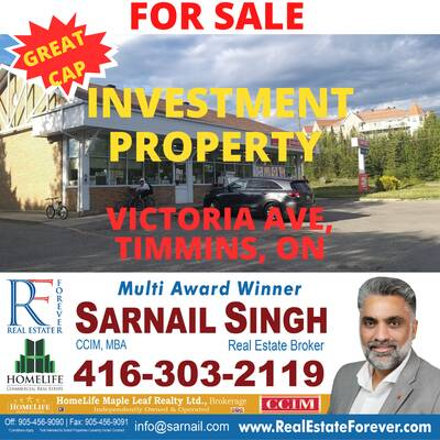 Investment Property For Sale - Victoria Ave, Timmins, ON