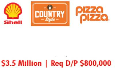 SHELL WITH PIZZA PIZZA & COUNTRY STYLE FOR SALE