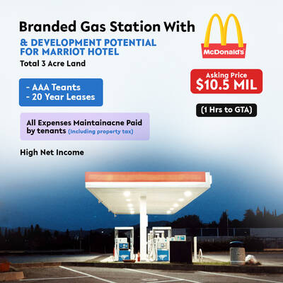 Branded  Gas Station with McDonalds & Development Potential for Marriot Hotel  (1 Hrs to GTA)