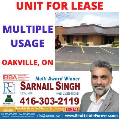 Multiple Usage For Lease - Oakville