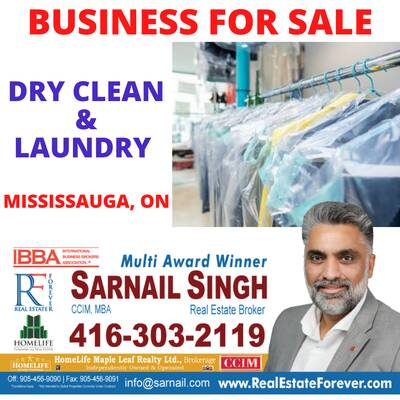 Dry Clean/Laundry Business For Sale - Mississauga