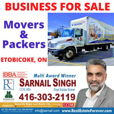 Movers and Packers Business For Sale